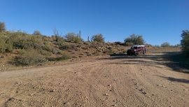 AZCO Mine Road - Waypoint 14: 9959, 9958, and 9999 intersection