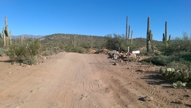 Little Pan Mine Road - Waypoint 12: 9999 & 9998 North Intersection