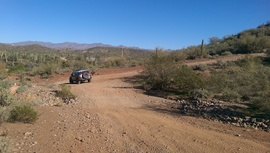 Little Pan Mine Road - Waypoint 10: Split Bottom Intersection