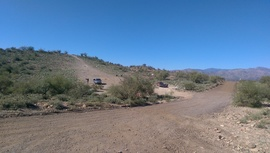 Little Pan Mine Road - Waypoint 1: 9999 & 9998 South End Intersection
