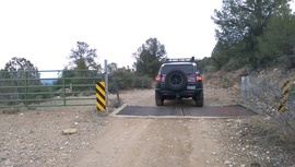 General Cook National Recreation Trail - Waypoint 6: Cattle Guard East
