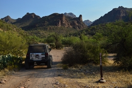 Millsite Canyon Trail Arizona - Waypoint 9: STAY LEFT ON FR1900