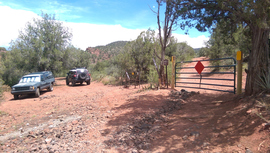 Oak Creek Homestead - Waypoint 9: Locked gate