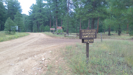 Fry Canyon Trail - Waypoint 7: East Camping area