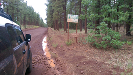 Woody Mountain Road - Waypoint 1: Woody Mountain Seasonal Gate