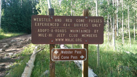 Webster Pass - Waypoint 15: Red Cone