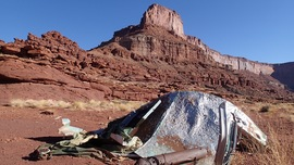Lockhart Basin - Waypoint 27: Camper Wreckage and Water Tank Debris