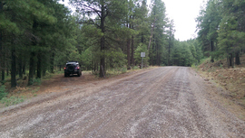 East Pocket Road - Waypoint 10: Muddy Rocky Road Intersection