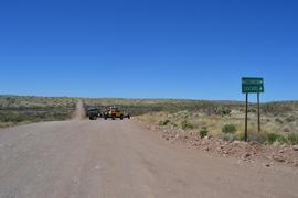 Jackson Cabin/Muleshoe Ranch Road FR #691, Arizona - Waypoint 1: Trailhead: Three Links Road - Airport Road - Muleshoe Ranch Road  Intersection