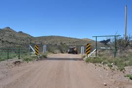Jackson Cabin/Muleshoe Ranch Road FR #691, Arizona - Waypoint 2: Muleshoe Ranch Boundary - Cattle Guard