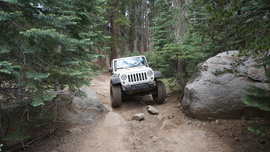 26E212 - Red Lake Trail  - Waypoint 11: Tight Rock Spot