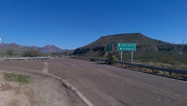 Table Mesa Road - West - Waypoint 1: Frontage Road Intersection