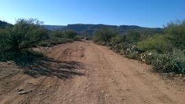 AZCO Mine Road - Waypoint 8: Little Pan Mine Road Intersection