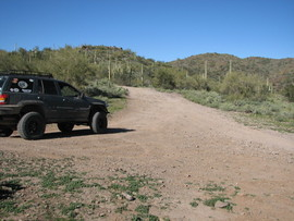 Indian Fort, Table Mesa Recreation area, Arizona - Waypoint 6: Left At T
