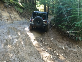 Evans Creek / Trail #102 - Waypoint 6: **DANGER** / Off-Camber Switchback