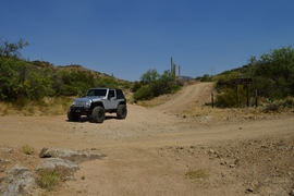 Millsite Canyon Trail - Waypoint 16: TRAIL END FR172