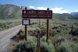 Laurel Lakes Road - Waypoint 1: Laurel Lakes Trailhead