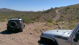 Windmill Trail - Waypoint 3: Pipeline & Windmill / Table Mesa Road Intersection