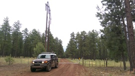 Fry Lake Trail - Waypoint 6: Power lines and Cattle Gard