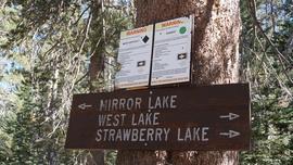 26E216 - Mirror Lake Trail  - Waypoint 1: Mirror Lake Trailhead