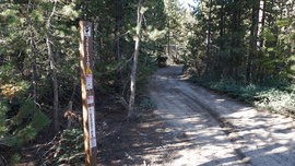 26E219 - Bald Mountain - Waypoint 2: 26E330 - Powder Hill Intersection (Turn Left)