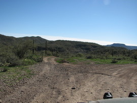 Indian Fort, Table Mesa Recreation area, Arizona - Waypoint 2: Left At Y