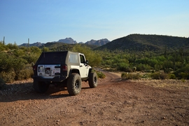 Millsite Canyon Trail - Waypoint 7: STAY LEFT FR1900