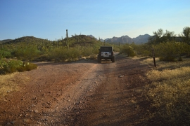 Millsite Canyon Trail Arizona - Waypoint 6: CONTINUE ON FR1900