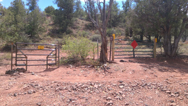Oak Creek Homestead - Waypoint 9: Locked gate