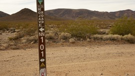 Mojave Road - Waypoint 20: Pole Line Road and Fort Piute