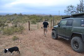 Charouleau Gap / FR# 736 - Waypoint 38: Coronado Forest Boundary Gate