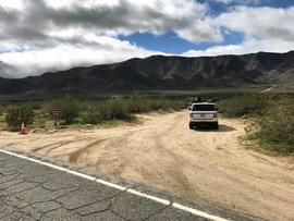 Oriflamme Canyon - Waypoint 1: Oriflamme Canyon Trailhead