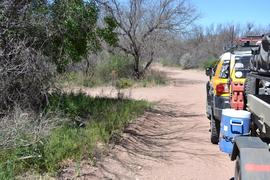 Jackson Cabin/Muleshoe Ranch Road FR #691, Arizona - Waypoint 3: Hooker Hot Springs -Hiker Staging Area