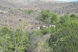 Jackson Cabin/Muleshoe Ranch Road FR #691, Arizona - Waypoint 7: Bass Canyon - Cabin/Riparian Area  15.0