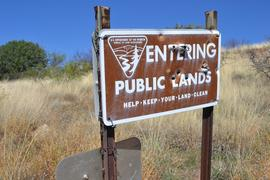 Jackson Cabin/Muleshoe Ranch Road FR #691, Arizona - Waypoint 12: Entering Public Lands