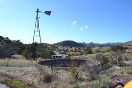 Jackson Cabin/Muleshoe Ranch Road FR #691, Arizona - Waypoint 16: Water Tank & Decommissioned Windmill