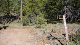 Smiley Rock  - Waypoint 15: Left/Southeast at 106E Intersection