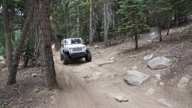 26E212 - Red Lake Trail  - Waypoint 2: Tight Rocky Section