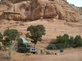 Camping & Lodging: Hidden Canyon Overlook - Moab, Utah
