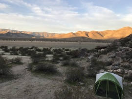 Camping & Lodging: Oriflamme Canyon - Julian, California